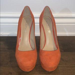 Aldo Orange pump heels